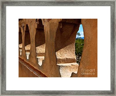Framed Print featuring the photograph Spanish Wall by Lawrence Burry