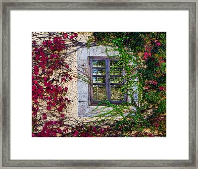 Framed Print featuring the photograph Spanish Window by Don Schwartz