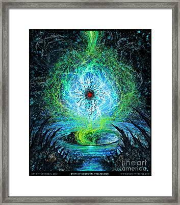 Spark Of Emotional Progress Framed Print
