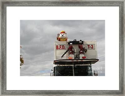 Sparkey Fire Dog Framed Print by Roger Look