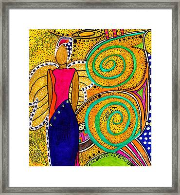 Sparkle The Angel Of Twinkling Thoughts Framed Print