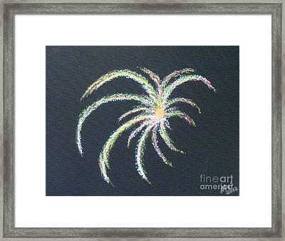 Sparkler Framed Print by Alys Caviness-Gober
