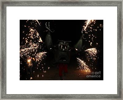 Sparkling Bat Framed Print by Agusti Pardo Rossello