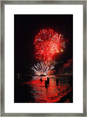 Sparks On The Sea Framed Print by Perry Van Munster