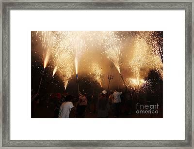 Sparks Rain 2 Framed Print by Agusti Pardo Rossello