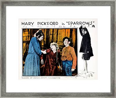 Sparrows, Mary Pickford Center Framed Print