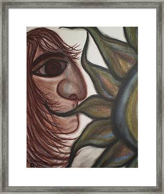 Speak No Evil Man Framed Print by Tracy Fallstrom