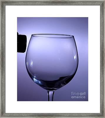 Speaker And A Glass Framed Print by Ted Kinsman