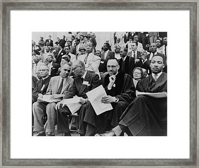 Speakers Platform At May 17, 1957 Framed Print by Everett