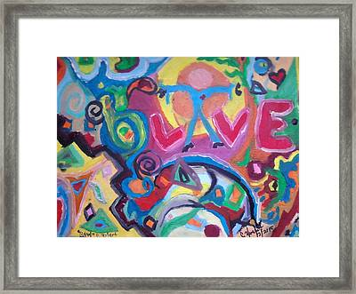 Special Drop Of Love Framed Print by Catherine Herbert