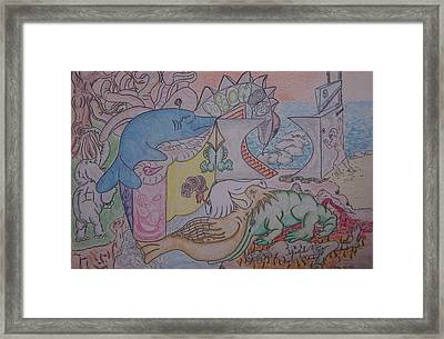 Species We Are Time Is Our Fault Framed Print by Timothy  Foley