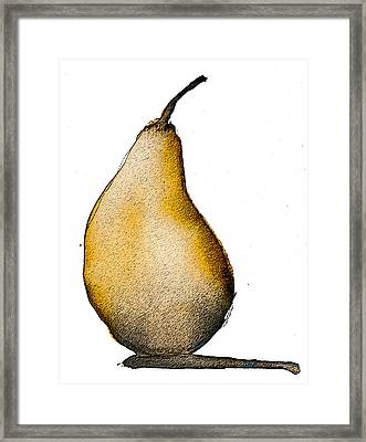 Speckled Pear Framed Print by Jani Freimann