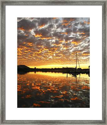 Spectacular Mazatlan Sunset Framed Print by Anne Mott