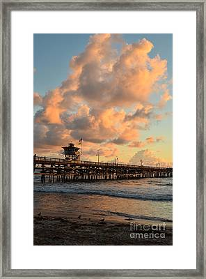 Spectacular San Clemente Clouds Framed Print by Timothy OLeary