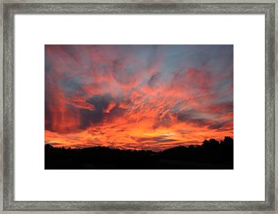 Spectacular Sunset Framed Print