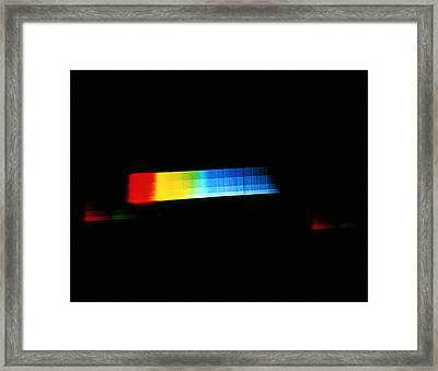 Spectrum Of A Star Framed Print by Dr Juerg Alean