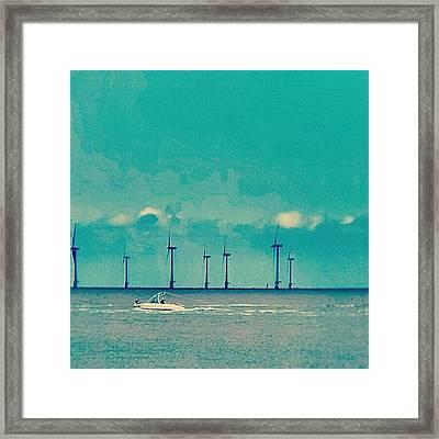 Speed Boat #boat #sea #ocean #blue Framed Print