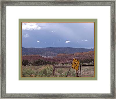 Speed Bumps Framed Print by Susan Alvaro
