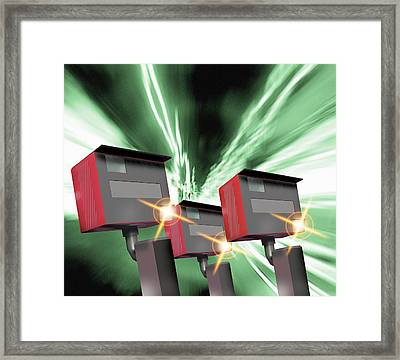 Speed Cameras Framed Print