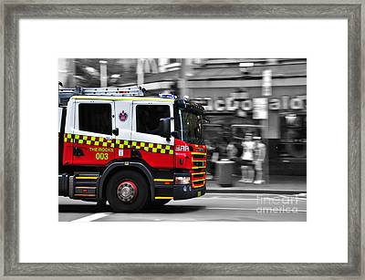 Speed In The City Framed Print by Kaye Menner
