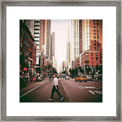 Speed Of Life - New York City Street Framed Print by Vivienne Gucwa
