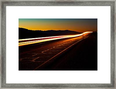 Speed Of Light Framed Print by James Marvin Phelps