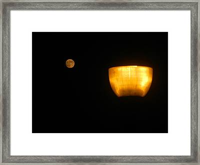 Speed Of Lite Framed Print by Dennis Leatherman