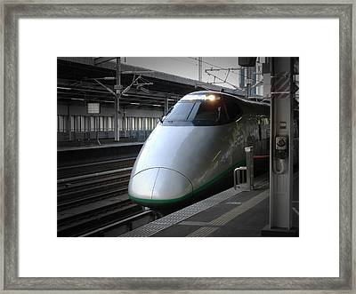 Speed Train Framed Print by Naxart Studio