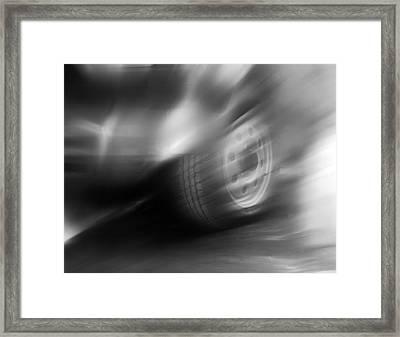 Speed Wheel Framed Print by Jan W Faul