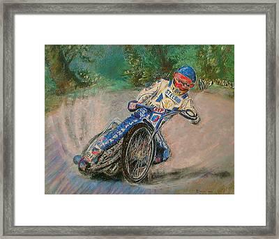 Speedway Rider Edinburgh Monarchs Framed Print