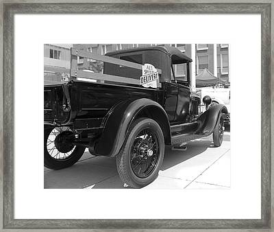 Framed Print featuring the photograph Speedy Delivery by Nick Mares