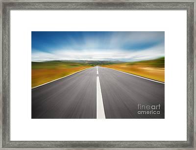 Speedyway Framed Print by Carlos Caetano
