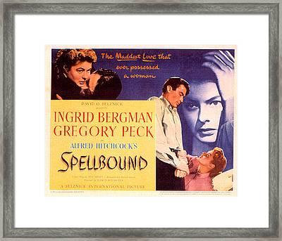 Spellbound, Ingrid Bergman, Gregory Framed Print by Everett