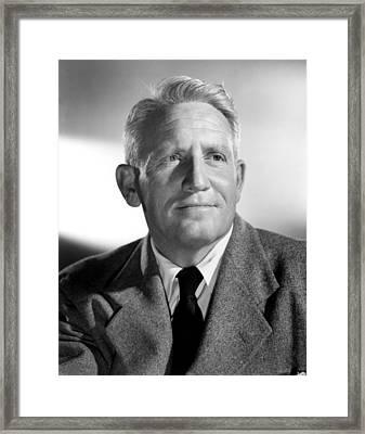 Spencer Tracy, 1940s Framed Print by Everett