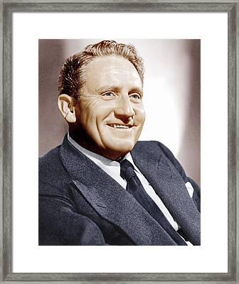 Spencer Tracy, Ca. 1940s Framed Print