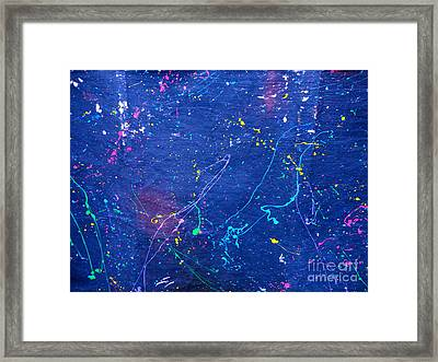 Sperm In Space Framed Print by Chuck Taylor