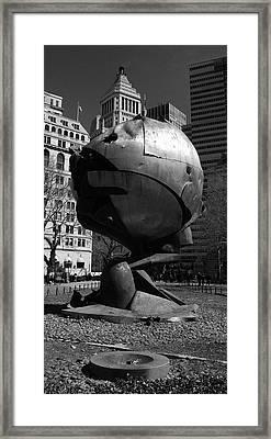 Sphere Manhatta Framed Print by Christian Heeb