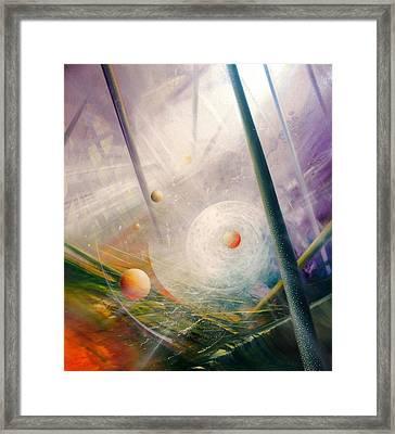 Sphere New Lights Framed Print by Drazen Pavlovic