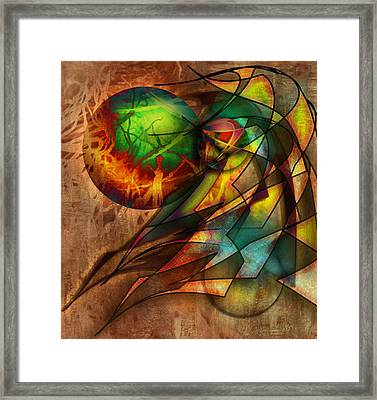 Sphere Of Influence Framed Print by Monroe Snook