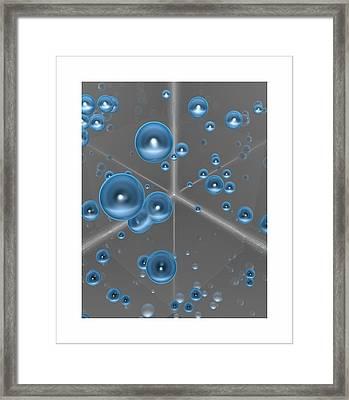 Framed Print featuring the digital art Spheres... by Tim Fillingim