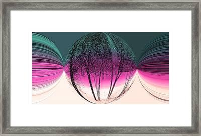 Spherical Snowstorm Framed Print