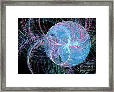 Framed Print featuring the digital art Spherical Symphony by Kim Sy Ok