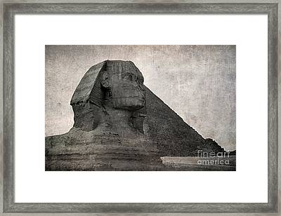 Sphinx Vintage Photo Framed Print by Jane Rix