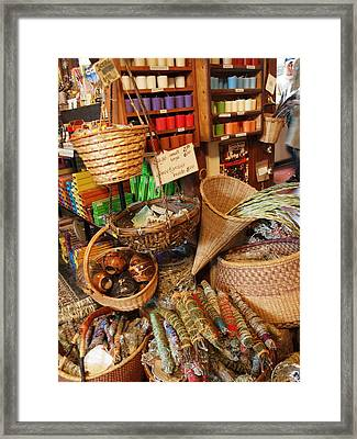 Spice Shop Framed Print by Jim Moore