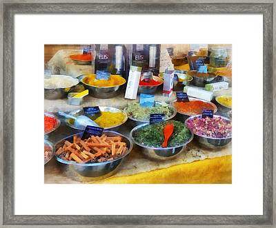 Spice Stand Framed Print by Susan Savad