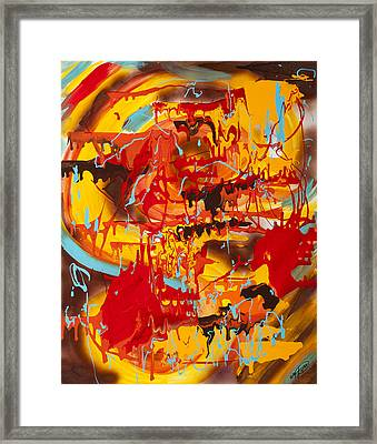 Spicy Fire Framed Print