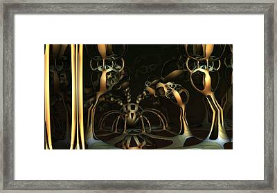 Spider Ball Framed Print