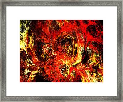Spider Caverns Framed Print by Andee Design