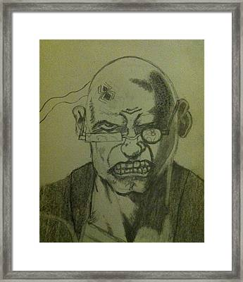 Framed Print featuring the drawing Spider by Elizabeth Coats