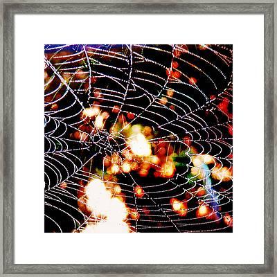 Spider Love Framed Print by Greta Thorsdottir